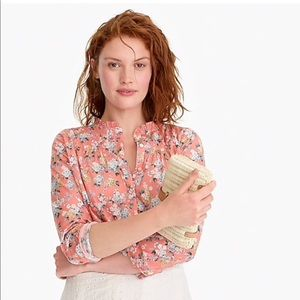 NWT J. Crew Liberty Fabric Popover Floral Shirt 6